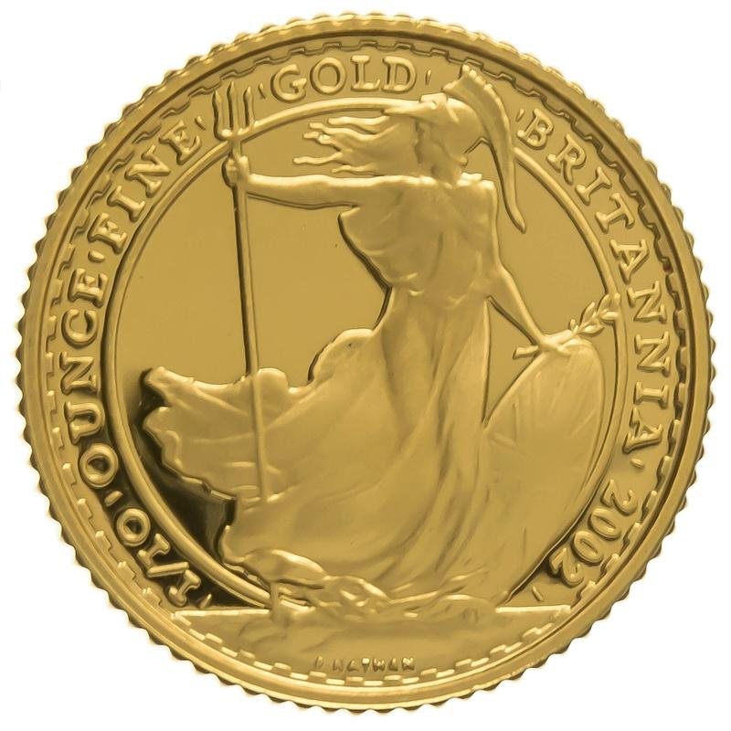 2002 Tenth Ounce Proof Britannia Gold Coin