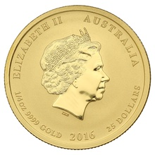 2016 Perth Mint Quarter Ounce Year of the Monkey Gold Coin