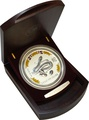2001 1 Kilo Silver Snake coin with Diamond Eye - Boxed