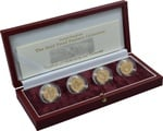 Gold Proof 2003 £1 One Pound Pattern Collection Bridges Boxed