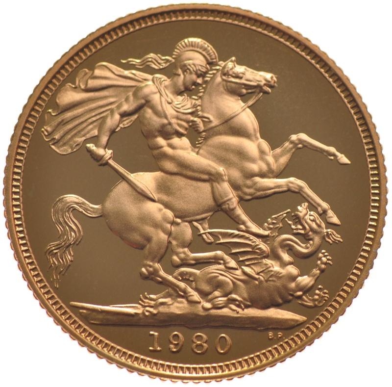1980 Gold Sovereign - Elizabeth II Decimal Head Proof