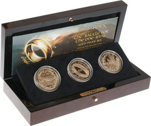 2003 3 Coin Lord of the Rings Gold Proof Set Boxed