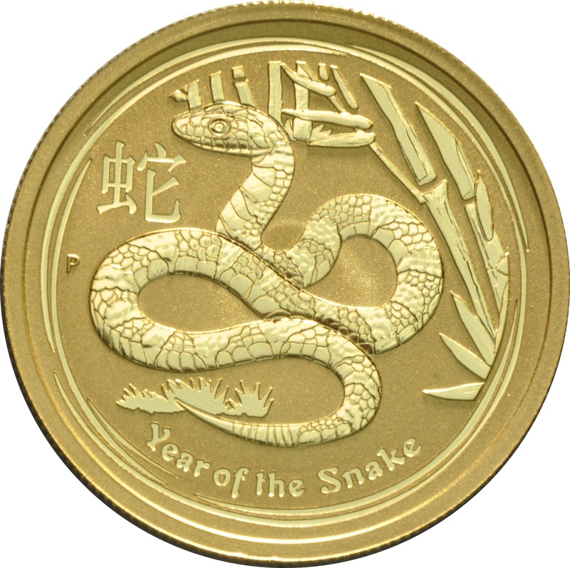 2013 Half Ounce Year of the Snake Gold Coin