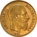 20 Belgian Franc Leopold II - type 1 1867 - 1870