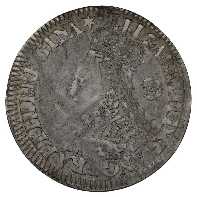 1563 Elizabeth I  Silver Milled Sixpence mm Star