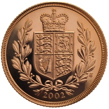 2002 Gold Sovereign - Elizabeth II Fourth Head
