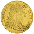 1815 20 French Francs - Louis XVIII Uniformed Bust - R