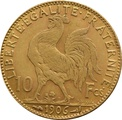 10 French Francs - Marianne Rooster