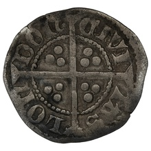 1361-69 Edward III Hammered Silver Halfpenny - Treaty Period