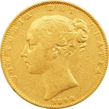 1844 Victoria Young Head Gold Sovereign