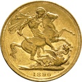 1890 Gold Sovereign - Victoria Jubilee Head - S