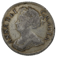 1709 Queen Anne Silver Shilling