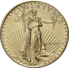 1991 1oz American Eagle Gold Coin MCMXCI