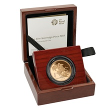 2018 - Gold £5 Brilliant Uncirculated Coin Boxed