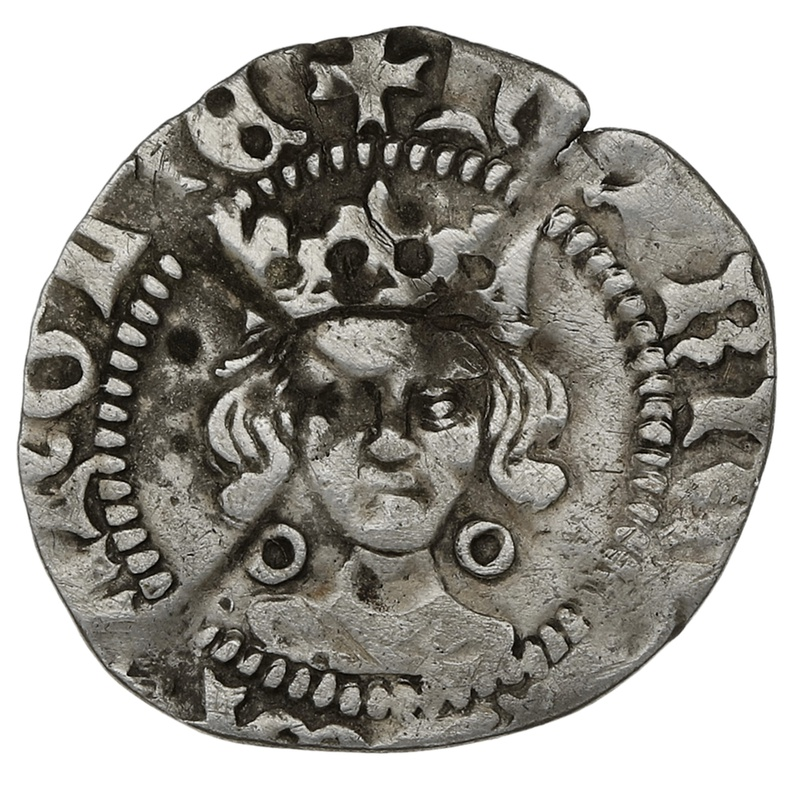 1422-61 Henry VI Hammered Silver Penny - Calais
