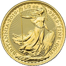 2019 Britannia Half Ounce Gold Coin