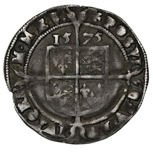 1575 Elizabeth I Silver Sixpence 4th Issue mm Eglantine
