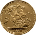 1992 Gold Half Sovereign Elizabeth II Third Head Proof