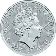 2oz Silver Coin, Unicorn of Scotland - Queen's Beast 2018