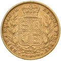 1870 Gold Sovereign - Victoria Young Head Shield Back - London