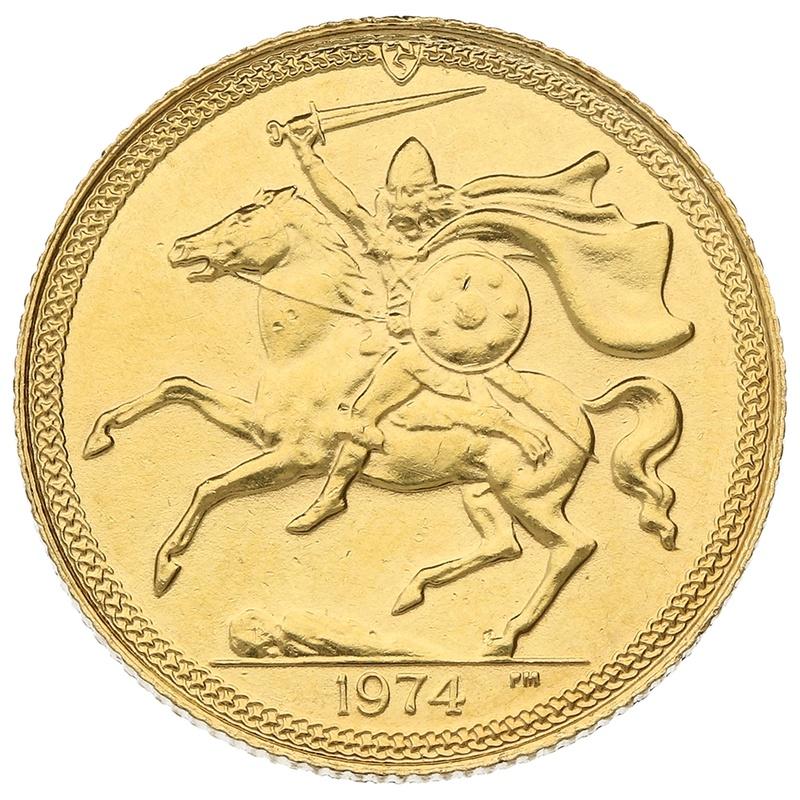 1974 Gold Sovereign - Elizabeth II Decimal Portrait - Isle of Man