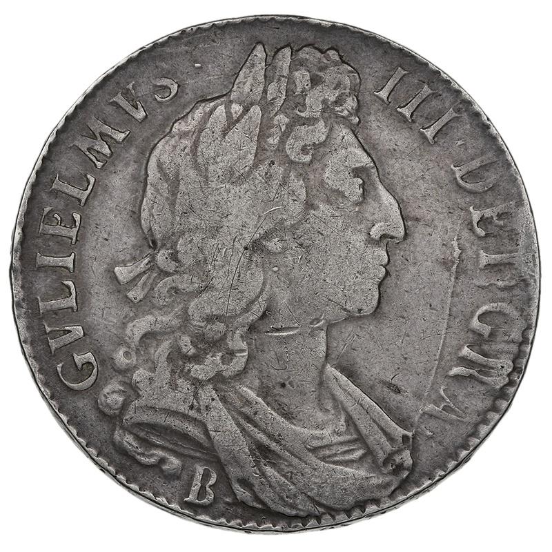 1696 B William III Halfcrown