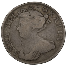 "1713 Queen Anne Silver Halfcrown ""DVODECIMO"""
