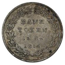 1814 George III Silver Eighteenpence Shilling Bank Token