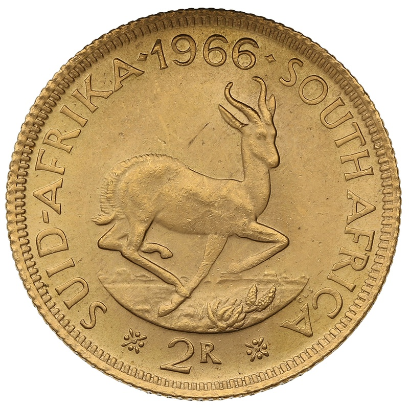 1966 2R 2 Rand coin South Africa