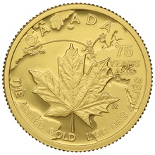 2015 Quarter Ounce Gold Canadian Maple - The Allied Gold