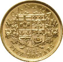 1912 Canada $5 Gold Coin