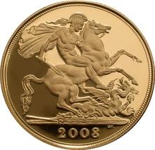 2008 Gold Sovereign - Elizabeth II Fourth Head Proof