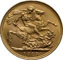 1915 Gold Sovereign - King George V - S