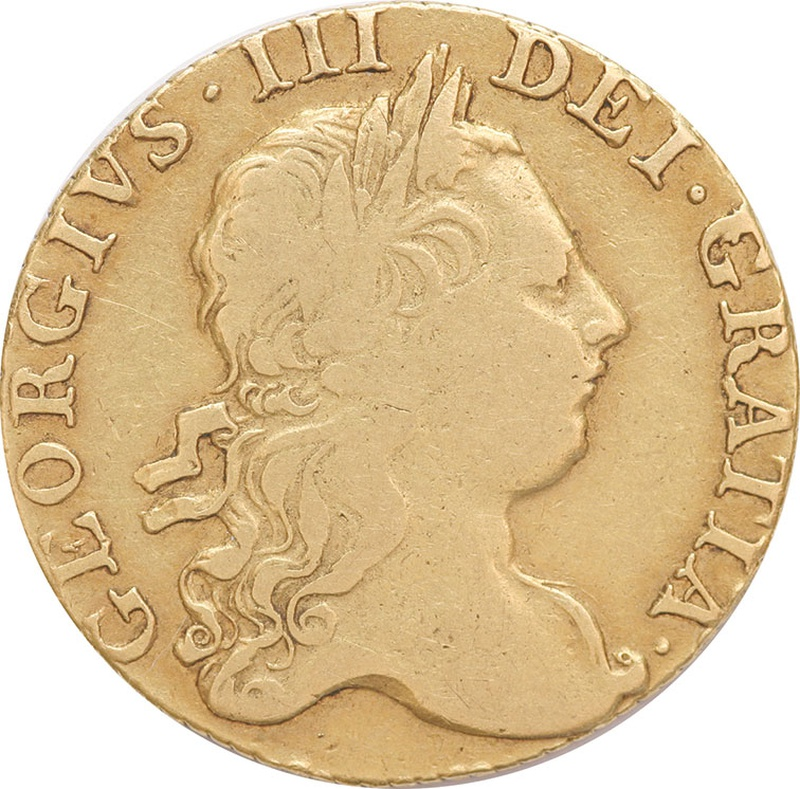 1771 George III Guinea Gold Coin