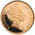 Half Sovereign Elizabeth II Third Head 1985 - 1997