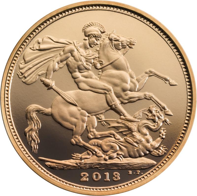 2013 Gold Sovereign - Elizabeth II Fourth Head Proof