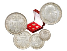 Edward VII Silver Maundy Set - Uncirculated Boxed