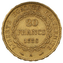 1886 20 French Francs - Guardian Angel - A