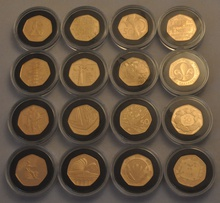 2009 UK 50p Gold Proof Collection Boxed