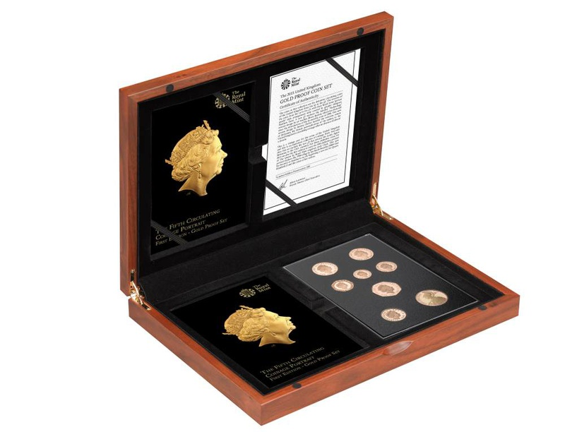 Gold Proof 2015 Fifth Circulating UK Coinage Portrait Set Boxed