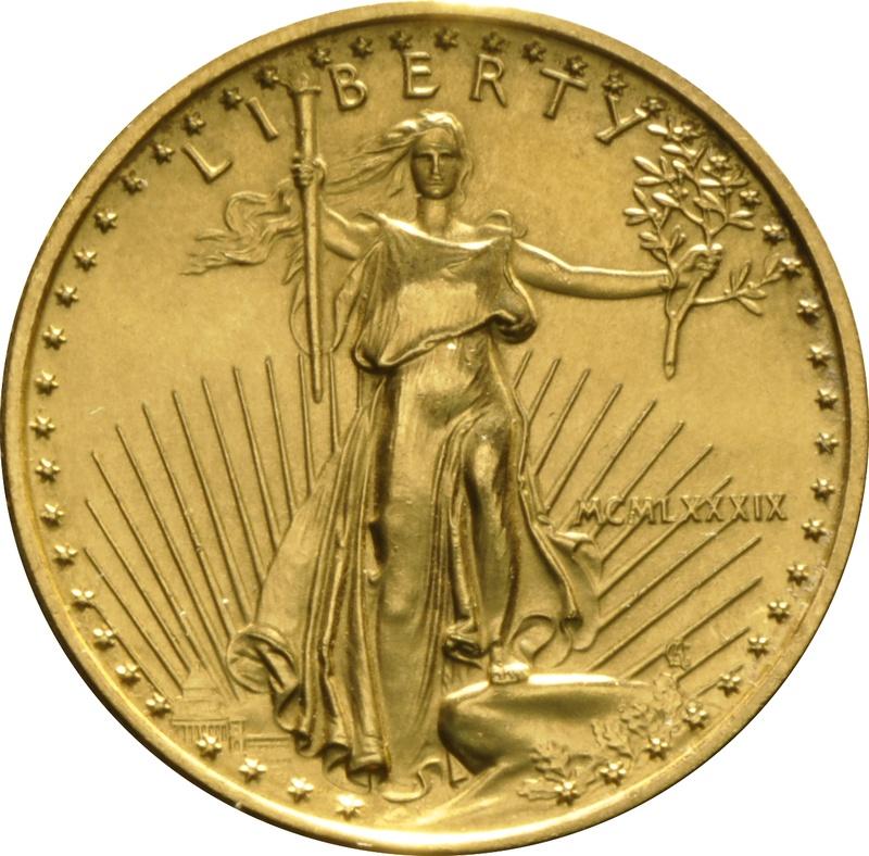 1989 Quarter Ounce Eagle Gold Coin MCMLXXXIX