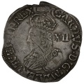 1636-8 Charles I Silver Shilling - mm Tun