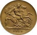 1929 Gold Sovereign - King George V - SA