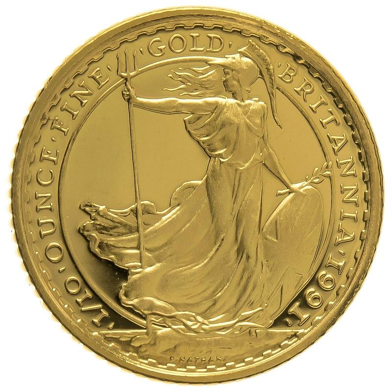 1991 Tenth Ounce Proof Britannia Gold Coin