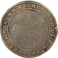 1551 Edward VI Silver Half Crown