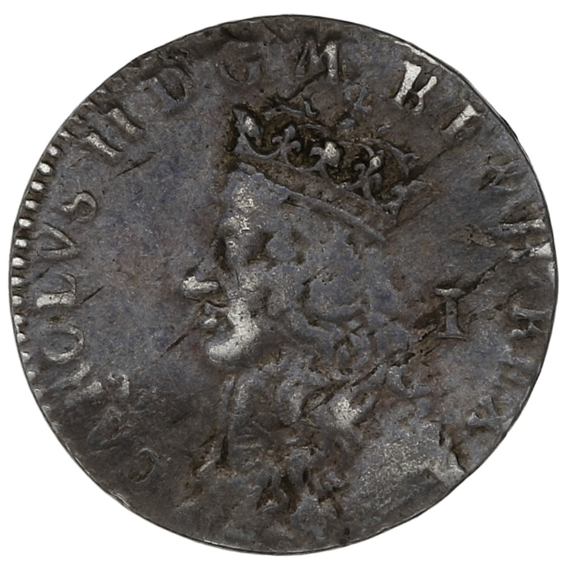 1660 Charles II Hammered Silver Penny Undated