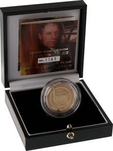 2004 £2 Two Pound Proof Gold Coin: Steam Locomotive Boxed