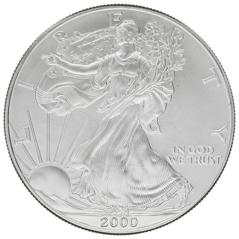 2000 1oz American Eagle Silver Coin