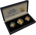 1988 Gold Proof Sovereign Three Coin Set Boxed