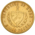 Cuban Cinco 5 Pesos Gold Coin
